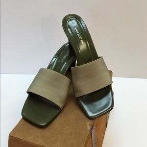Neutral Color Slide-in Heels. Ann Taylor